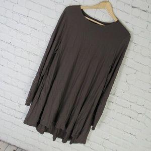 Eileen Fisher Shirt Top Tunic Womens XL Brown